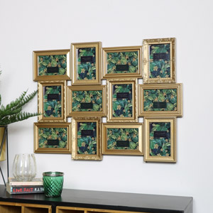 Gold Ornate 12 Multi Photo Frame