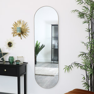 Gold Oval Wall Mirror 140cm x 40cm