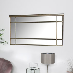 Gold Over Mantel Mirror - Deco Range