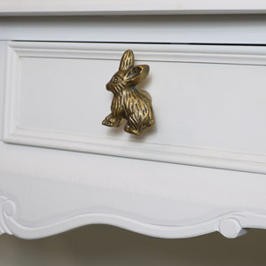 Gold Rabbit Drawer Knob