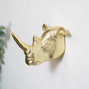 Gold Rhino Wall Hook