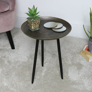 Brass Effect Metal Side Table