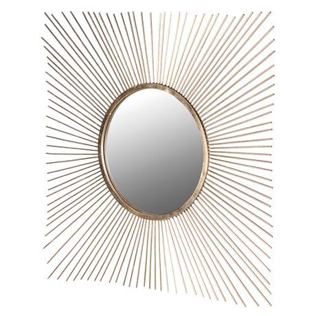 Gold Square Sunburst Mirror