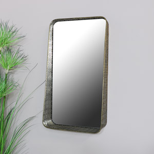 Gold Wall Mirror with Shelf 33cm x 60cm