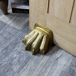 Golden Lion Paw Door Stop
