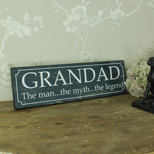 Blue Wooden 'Grandad' Wall Plaque