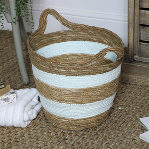 Green Seagrass Basket - Large
