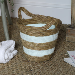 Green Seagrass Basket - Small