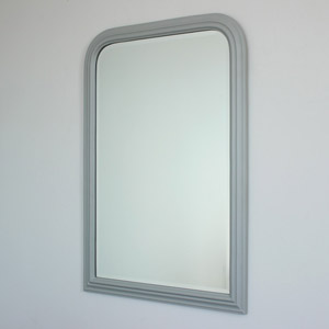 Vintage Grey Arched Wall Mirror 70cm x 100cm