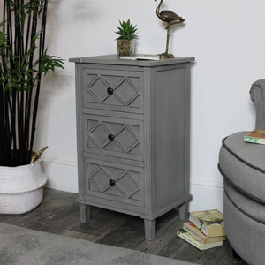 Venice 3 Drawer Bedside