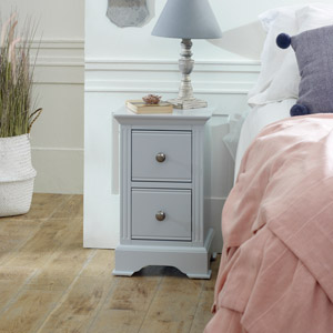 Davenport Grey 2 Drawer Bedside