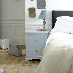 Newbury Grey Range 2 Drawer Bedside