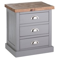 Grey Bedside Table - Westminster Range