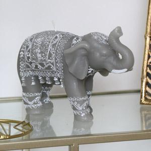 Grey Boho Elephant Candle