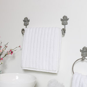 Grey Cherub Towel Rail