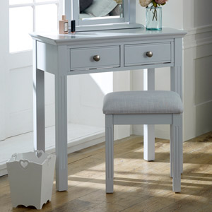 Davenport Grey - 2 Drawer Console Table