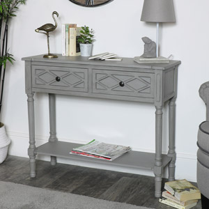 Venice Range - 2 Drawer Console Table