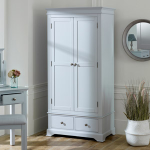 Grey Double Wardrobe - Davenport Grey Range DAMAGED SECOND ITEM 3017