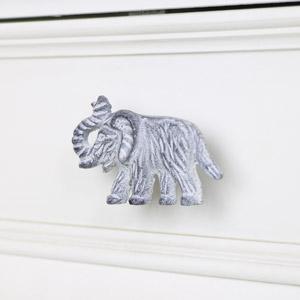 Grey Elephant Drawer Knob