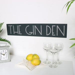 Grey Glitter Gin Sign