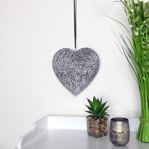 Grey Hanging Heart
