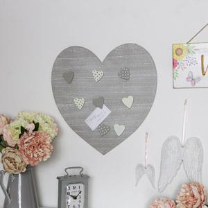 Grey Heart Memo Board