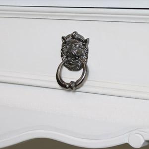 Grey Lion Head Drawer Knob