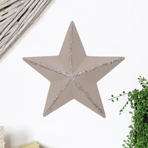 Grey Metal Barn Star