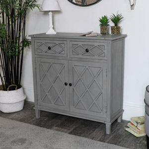 Grey Sideboard Storage Unit - Venice Range