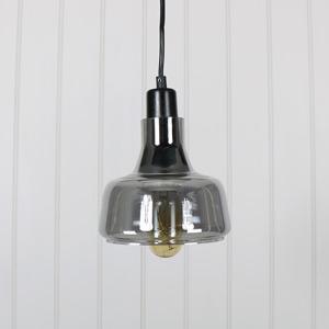 Grey Smoked Glass Pendant Light