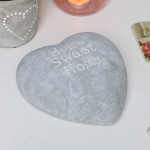 Grey Stone Heart - Home Sweet Home
