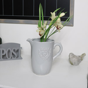 Grey Vintage Ceramic Jug