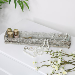 Grey Vintage Tray - Large