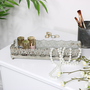Grey Vintage Tray - Small