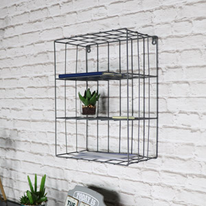 Grey Wire Metal Wall Shelves