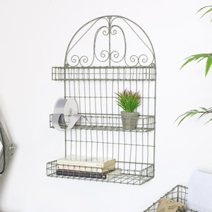 Grey Wire Shelf Unit