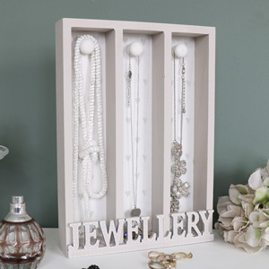 Grey Wooden Jewellery Holder