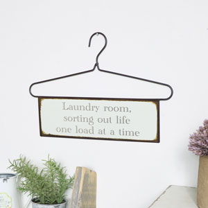 Hanger Wall Plaque - 'Laundry room…'