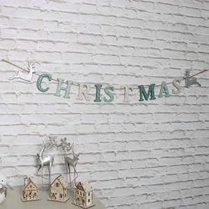 Hanging Christmas Letters Garland
