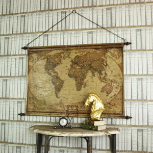 Hanging Scroll World Map