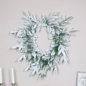 Heart Shaped Snowy Fir Wreath