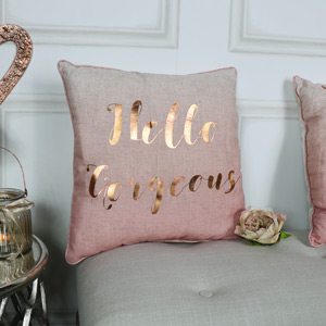Hello Gorgeous Pink Scatter Cushion