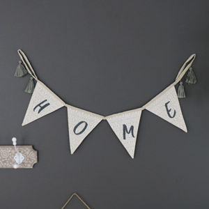 'Home' Fabric Bunting