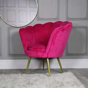 Hot Pink Velvet Boudoir Chair