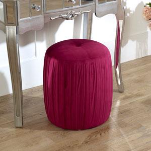 Hot Pink Velvet Stool