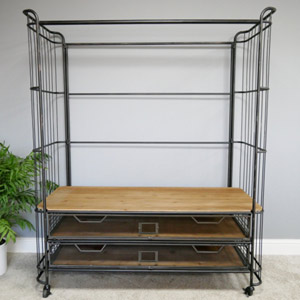 Industrial Clothing Rail Trolley