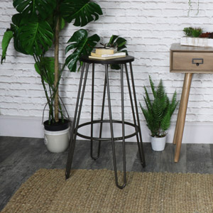 Industrial Metal Frame Bar Stool
