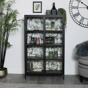 Industrial Metal Safari Display Cabinet