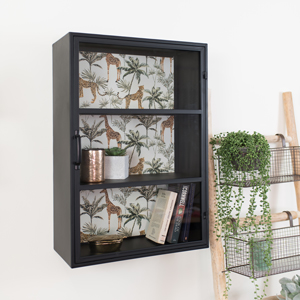 Industrial Metal Safari Wall Cabinet
