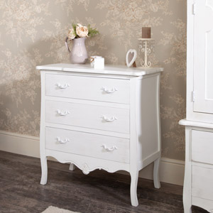White Chest of Drawers - Jolie Range